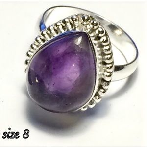 Size 8 Amethyst Statement Ring New
